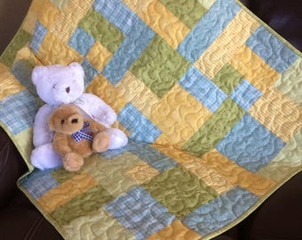 Baby quilt, nursery decor, homemade baby quilt, baby shower qift