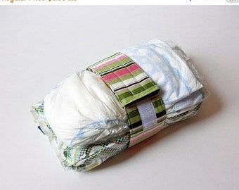 LAST CHANCE CLEARANCE Clearance Stripe Diaper Strap - Pink and Green Stripes