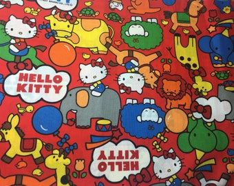 Sanrio Fabric Fat Quarter Hello Kitty Zoo Direct Japanese import Kawaii