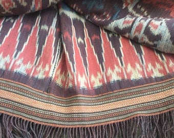 Handwoven Indonesian Ikat Throw