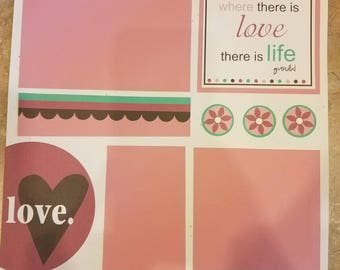 12x12 Pre-made Scrapbook Page