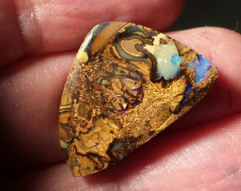 Beautifully handmade Koroit  boulder opal