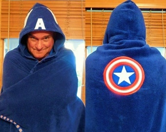 Adult-size CA Superhero Hooded Towel - Free Personalization