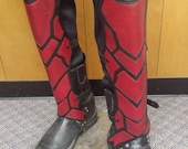 Leather Armor Nightingale Inspired Greaves