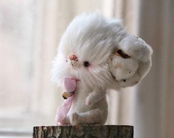 OOAK Cotton Fluffy Bear