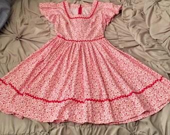 Vintage handmade 1950s rockabilly dress