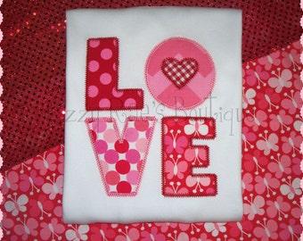 Girls Valentine's Day Embroidered Shirt- Valentine's monogram- Valentine's Day- Holiday- Valentine party- Girls Valentine's applique shirt