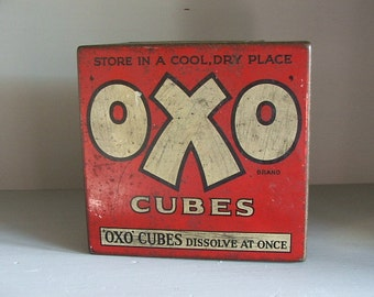 Old Vintage Oxo Tin