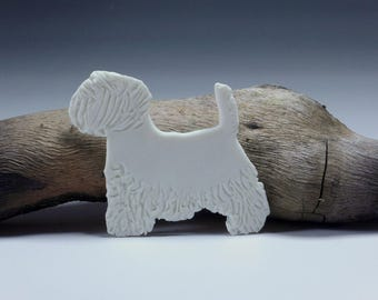 West Highland Terrier, Westie Porcelain Gift Tag