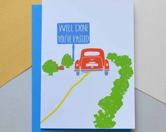 Well done you've passed - Driving Test Greeting Card (Free UK delivery)