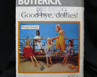 """Butterick 6495, retro 1988 doll clothes pattern for Barbie and similar 11.5"""" dolls, ten outfits in the styles of the 80's, casual outfits"""