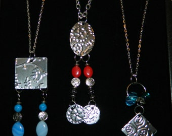 Handcrafted Artisan One-of-a-Kind! Vintage Steampunk Fashion Style Necklace! Designed by LCG