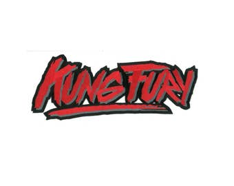 "10"" Wide Kung Fury Iron-on Back Patch Kungfury David Hasselhoff True Survivor Horror Karate Kung Fu Kid Cobra Kai Punk 198's Retro 80s"