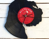 Schnauzer Clock   Vinyl Record • Upcycled Recycled Repurposed • Dog Breed • Silhouette • Shadow Art