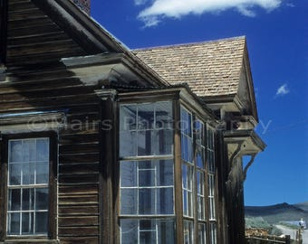 Western Decor Ghost Town Wood Weathered Bodie California Travel, Fine Art Photography matted & signed 7 x 10 Original Photograph
