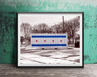 Chicago Flag Art Photography Print