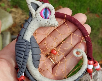 One of a kind dreamcatcher dragon