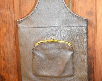Vintage Bonnie Cashin Brown Leather Cashin Carry
