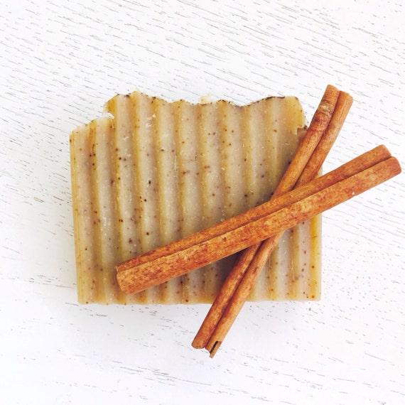 Cinnamon, Clove, and Honey Organic Coconut Milk Handmade Soap - all natural - cold process - Christmas Soap