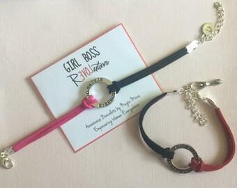 Girl Boss Awareness Bracelet, supporting  female empowerment