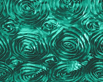 Satin Rosette Jade 52 Inch Fabric by the Yard - 1 yard