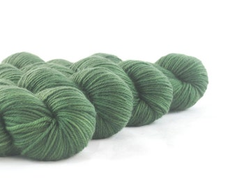 Hand Dyed Superwash Merino DK Yarn Dark Green