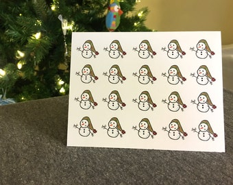 Tiny Snowmen: 4x6 Card