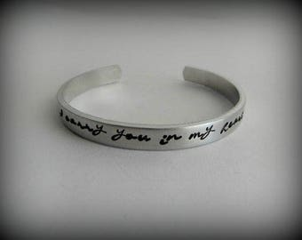 I carry you in my heart - Hand Stamped Memorial Bracelet - Remembrance Bracelet - Miscarriage Bracelet - Bereavement Gift - kg191