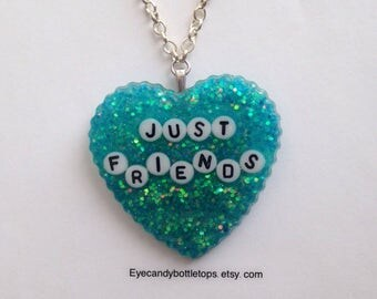 Just Friends Resin Charm Necklace