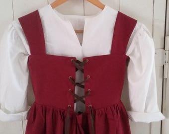 Girl's tudor peasant costume dress