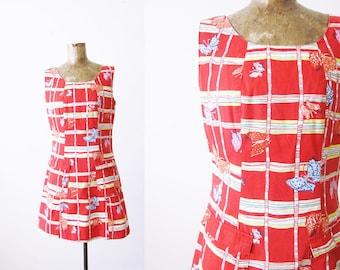 Lilly Pulitzer Dress / Vintage Lilly Pulitzer Mini Dress / Butterfly Print Dress / Multicolor 90s Womens Mini Dress Small