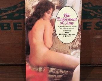 The Enjoyment of Amy Vintage Paperback Book 1974 Signet by John Colleton sleaze sex erotica Mature Fiction
