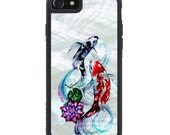 Katy Lipscomb Koi Pond Print iPhone 7 Real Shell Traveler Bumper Case - Made in the USA - FREE Shipping