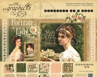 "Graphic 45   ""Portrait of a Lady""  8 x 8 Paper Pad"