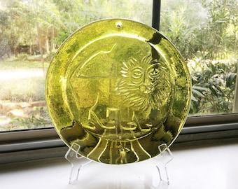 RESERVED Vintage Blenko Glass Sun Catcher - Lion Decor