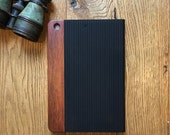 IPAD original mini 2,3,an retinal case, vintage looking hand polished exotic rosewood , real wood and herringbone leather