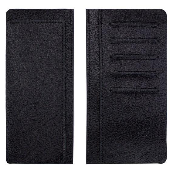 men 39 s black leather roper wallet interior pigskin with
