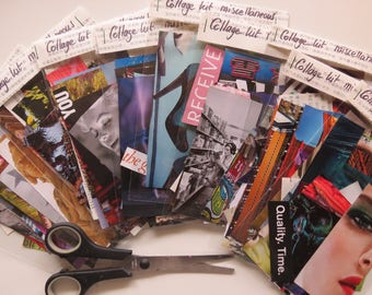 Collage kit, miscellaneous, art kit, paper goodies, clippings, journaling, scrapbooking