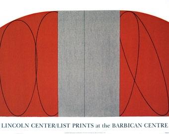 Robert Mangold-Red/Gray Zone-1997 Serigraph