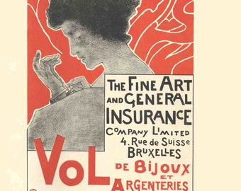 Emile Berchmans-Fine Art and General Insurance Company Limited-1897 Lithograph