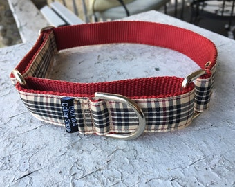 "Tibby's Barkberry Plaid - 1"" Martingale Collar"