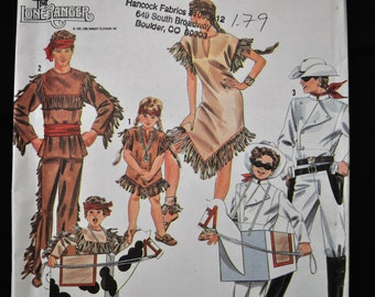 Adult Costume Pattern - sizes Small to Large - UNCUT - Lone Ranger, Tonto, Silver and Scout - Simplicity 9899