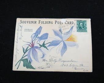 Vintage Souvenir Postcard - Early Colorado Springs - Folding Postcards - 1900s Postcards - Garden of the Gods - Free Shipping - 4PTT17
