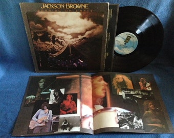 "Vintage, Jackson Browne - ""Running On Empty"" Vinyl LP Record Album Original 1977 1st Press, Contemporary Pop Rock You Love The Thunder, Stay"
