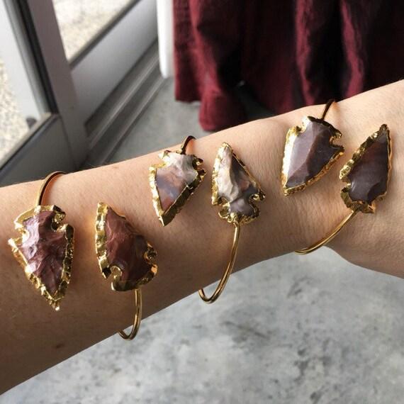 Jasper arrowhead cuff Bracelets