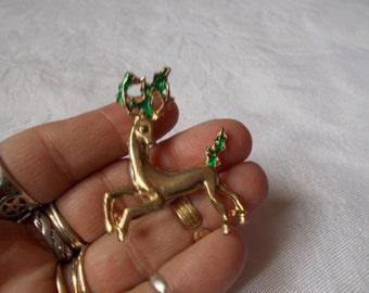 Stunning Vintage Pin-Brooch-Christmas Reindeer-P3139