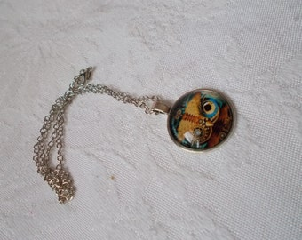 Stunning Beautiful Gothic Pagan Pendant Style Necklace-N1829-Steampunk Owl