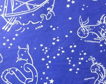 1/2 Yard Organic Cotton Fabric - Birch Fabrics, Saltwater, Stars of the Sea