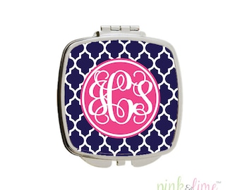 Monogrammed Compact Mirror, Design Your Own, Personalized Compact, Monogrammed Gift, Bridesmaids Gift, Hostess Gift, Personalized Gift