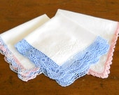 3 handkerchiefs vintage handkerchiefs lace hankies vintage ladies handkerchiefs ladies hankies vintage white hankies